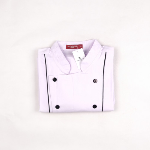 Basic Short Sleeves White w/ Black Lines