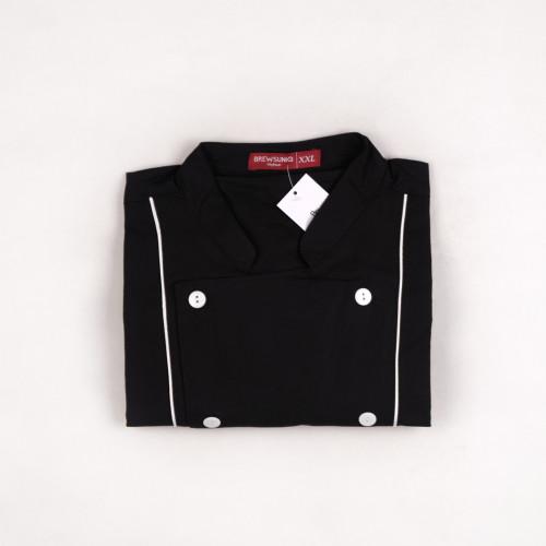 Basic Short Sleeves Black w/ White Lines